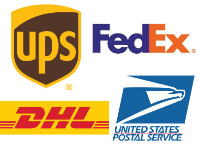 major parcel shippers logos