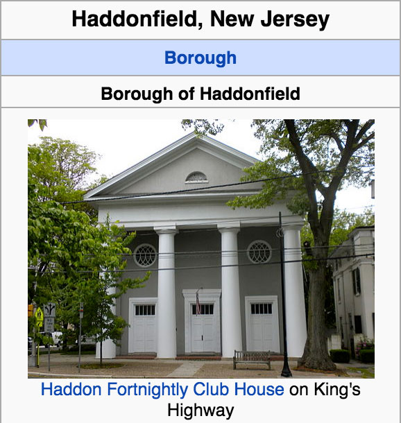 haddonfield new jersey