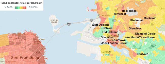 Oakland Neighborhood Map