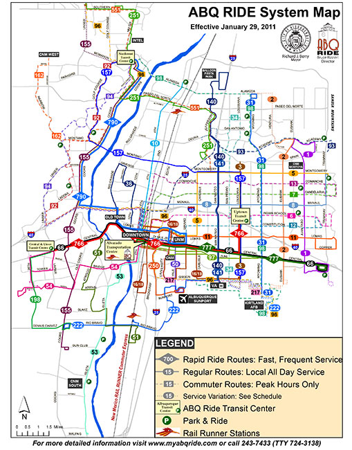ABQ Bus System Map