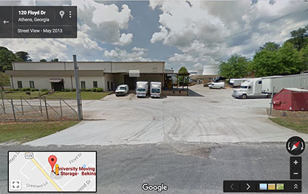 moving company google street view screen shot