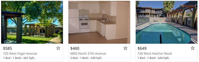 Phoenix, AZ Apartment Listings on Lovely