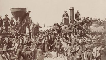 How the Transcontinental Railroad Spurred Relocation
