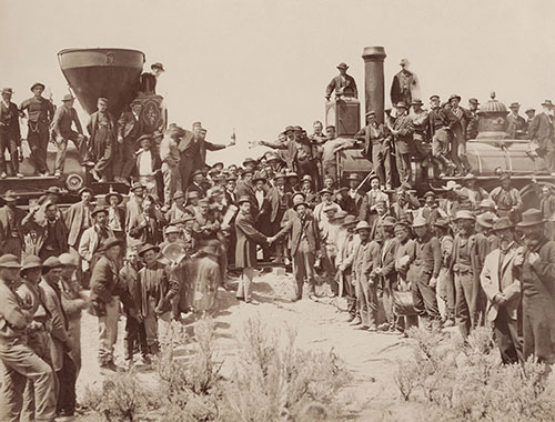 transcontinental railroad handshake