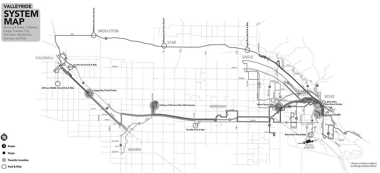 Boise Bus Map