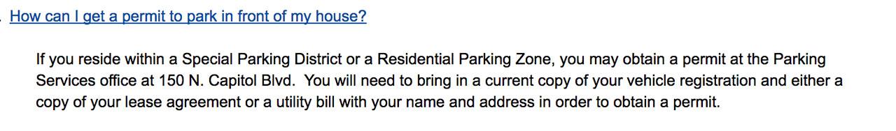 Boise Parking Permit