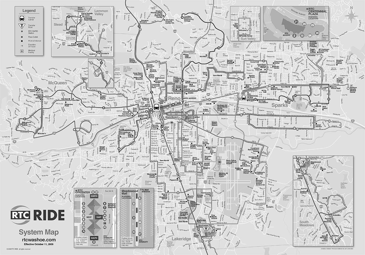 Reno Bus Map