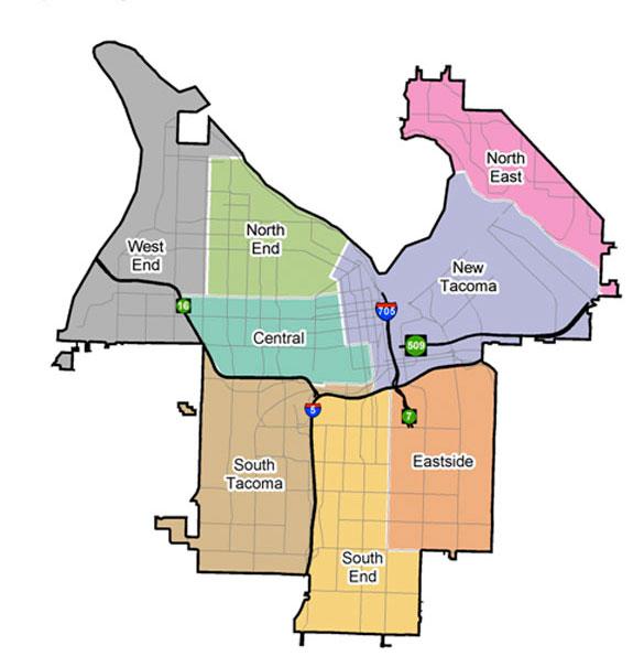 Tacoma Neighborhood Map