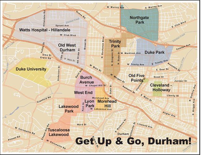 Durham Neighborhood Map