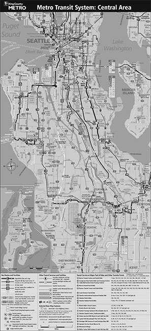 Central Seattle Transit Map