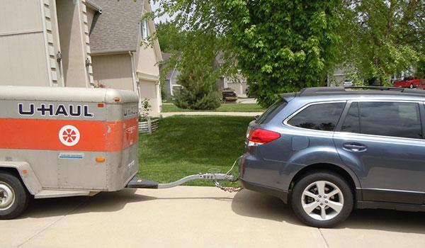 Uhaul tow behind trailer