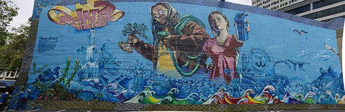 Water Writes Series Mural #2 - Oakland, CA