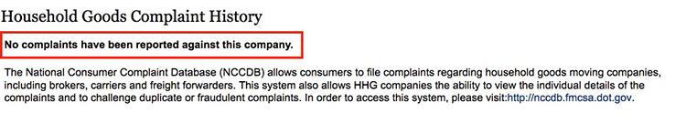 fmcsa complaint history upline