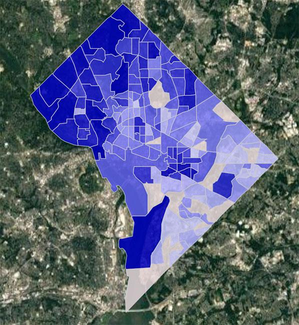 Washington DC Crime Score Map