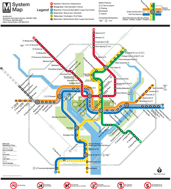 DC Metrorail Map