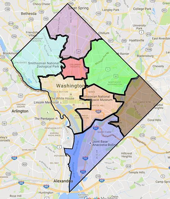 The Wards of Washington DC