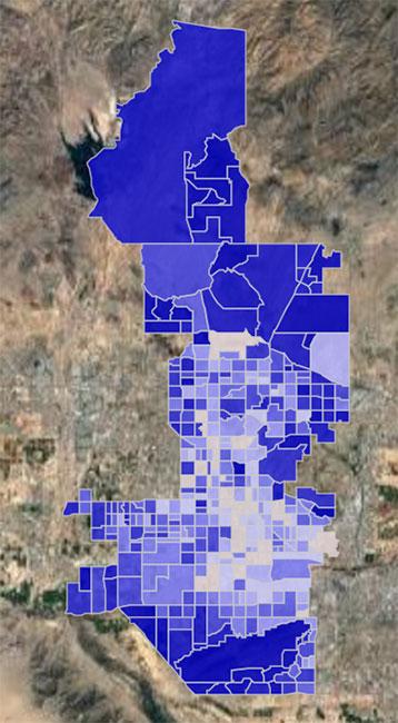 Phoenix, AZ Crime Hotspot Map