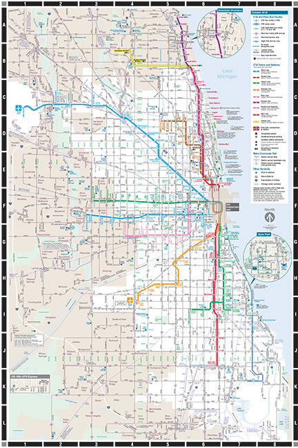 Chicago Bus and Train Map