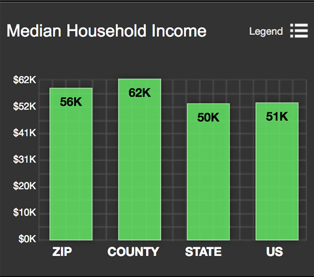 Gruene Median Household Income