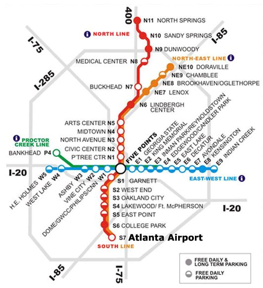 Atlanta MARTA rail map