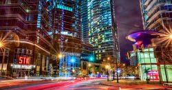 Atlanta Peachtree Streets Night