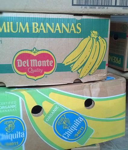 grocery banana boxes
