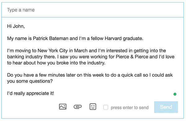 linkedin outreach email template