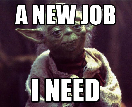 yoda new job meme
