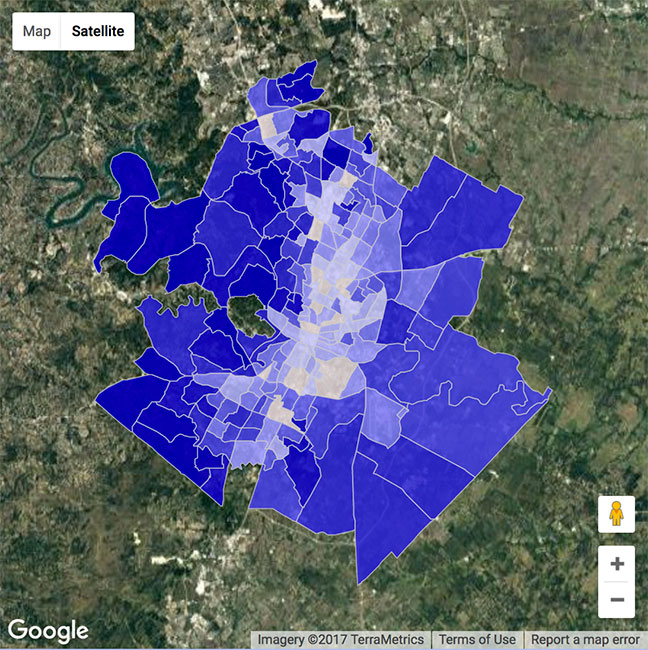 Austin, TX Crime Map