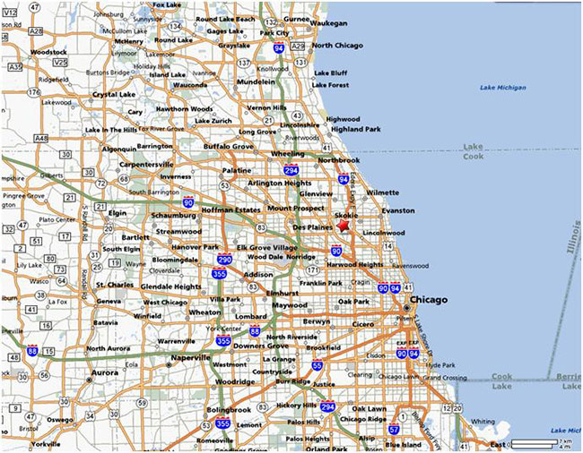 Chicago Suburbs Map