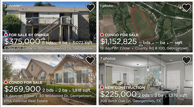 Georgetown Homes, Zillow