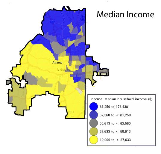 Atlanta Median Household Income 2021