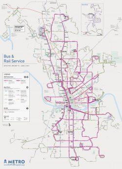 Austin transit system map 2021
