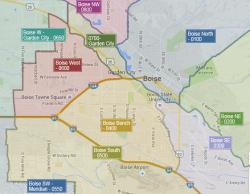 Boise Neighborhoods Map