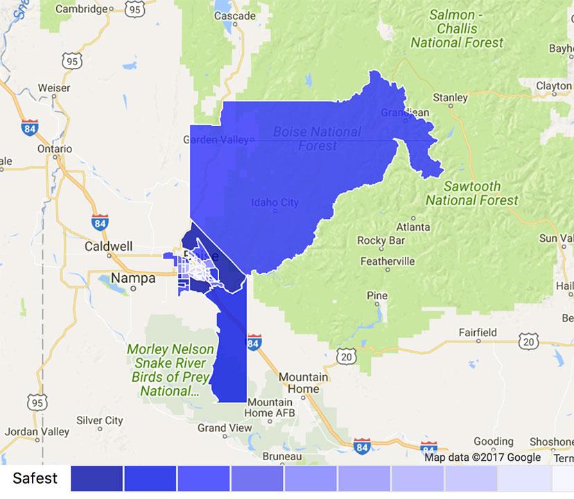 Boise Crime Map