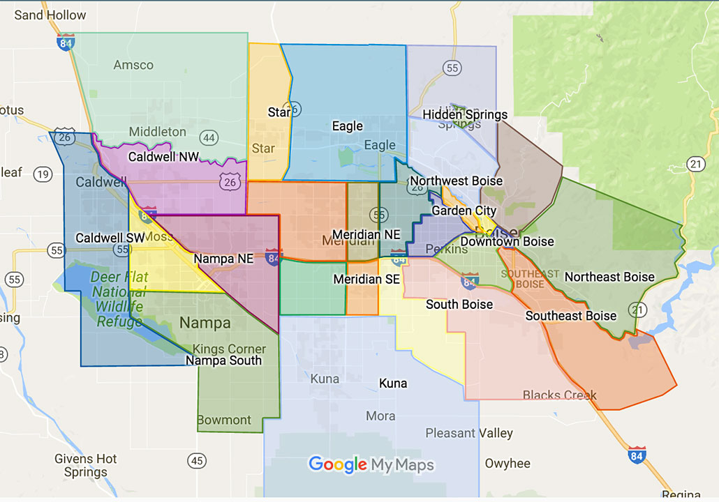 Boise Neighborhood Map