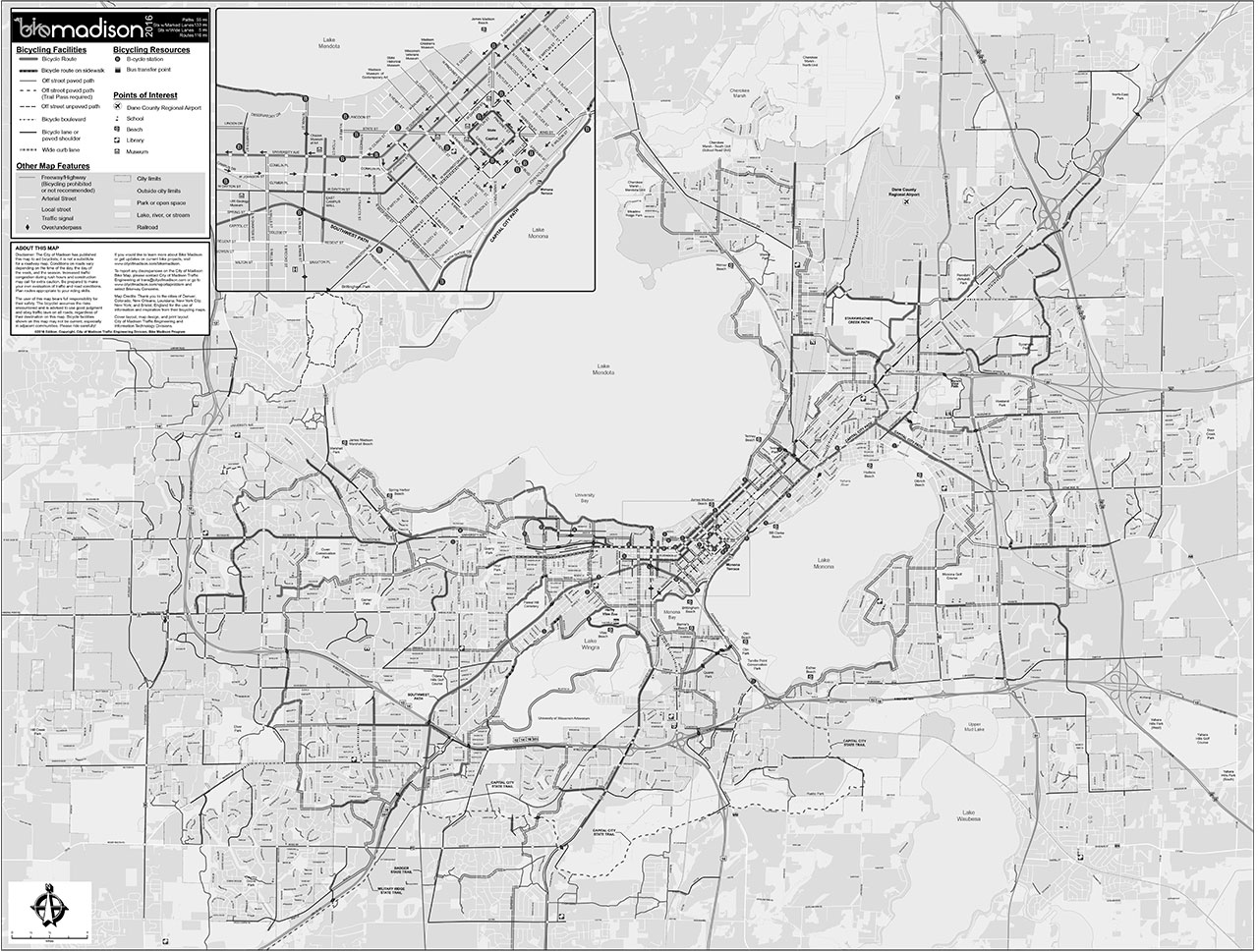 Madison Bike Map