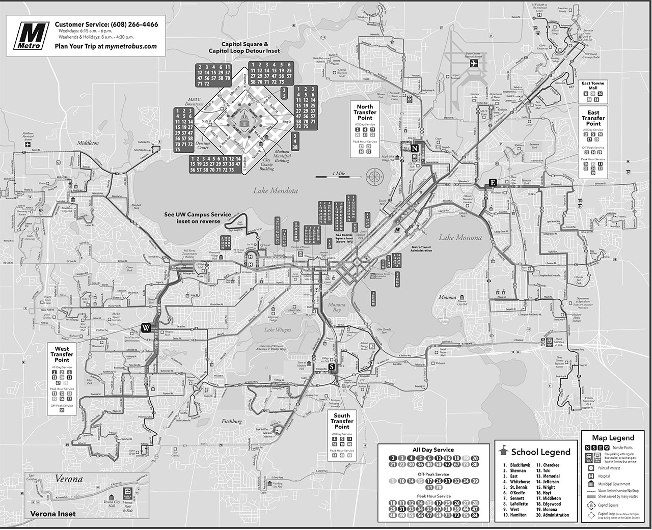 Madison Bus Map