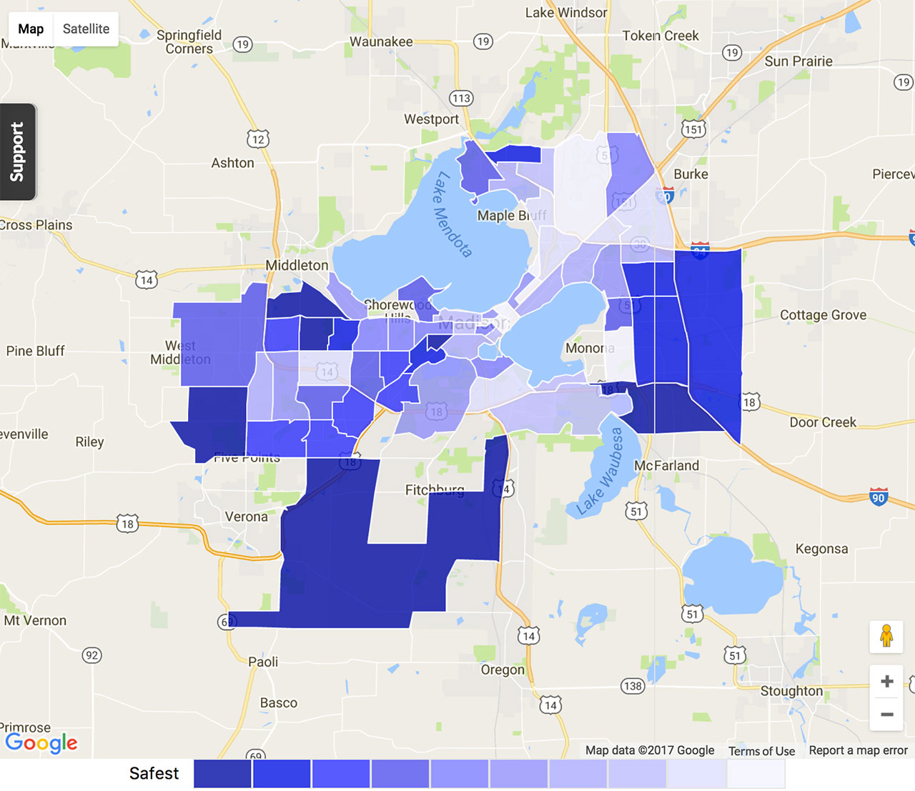 Madison Crime Map