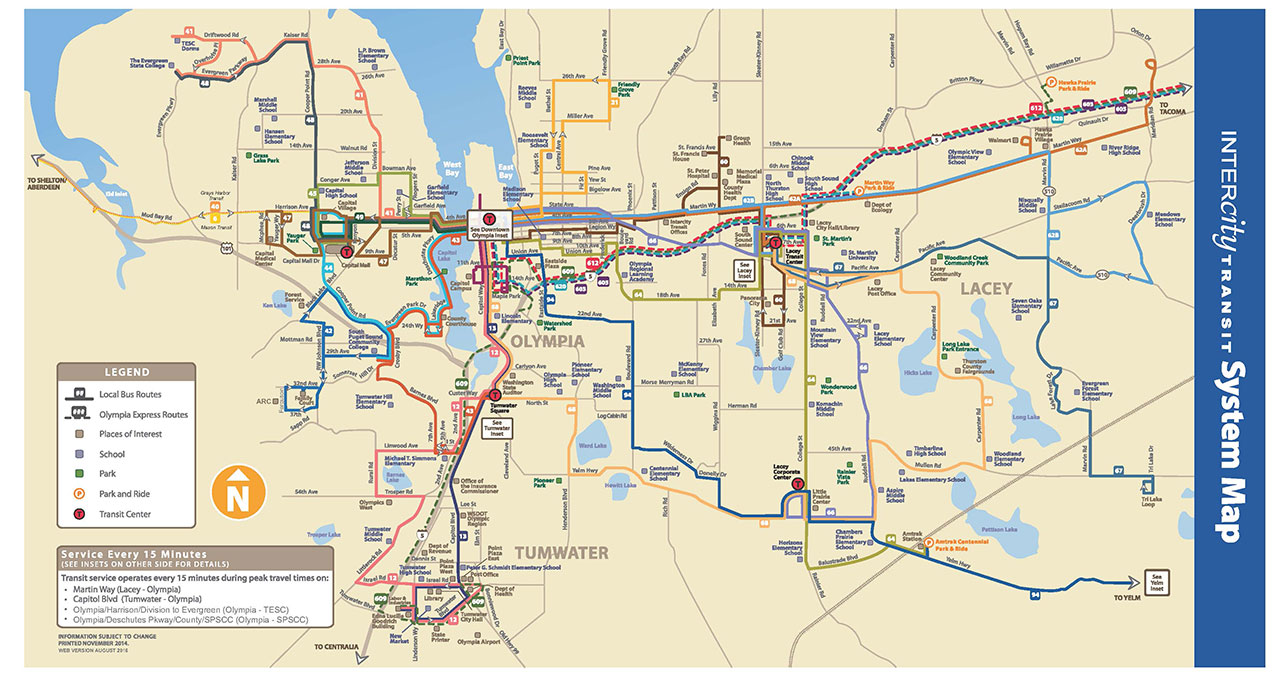 Olympia Bus System Map