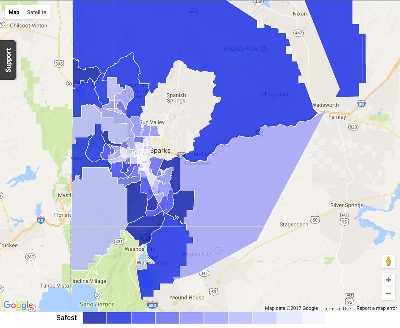 Reno Crime Map