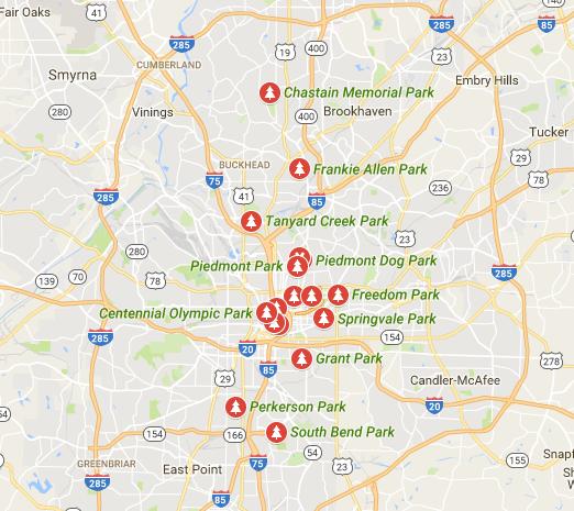 Atlanta parks inside the perimeter