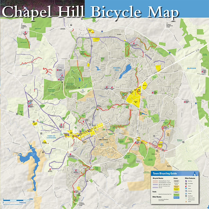 Chapel Hill Bike Map