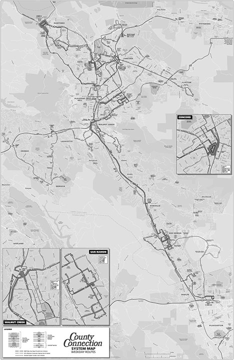 Concord Bus Map