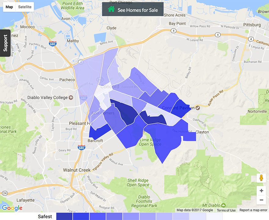 Concord Crime Map