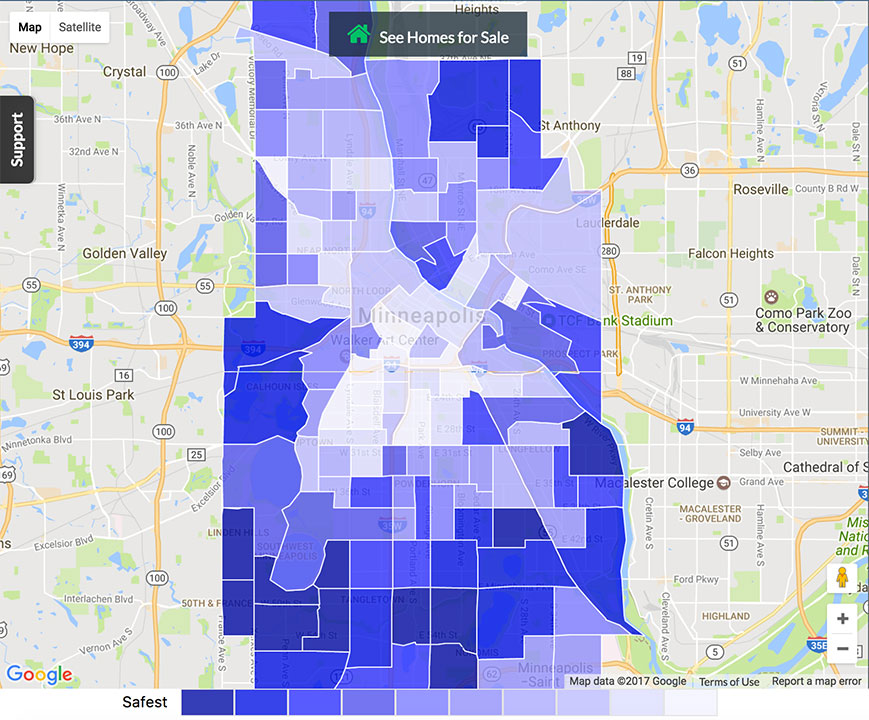 Minneapolis Crime Map