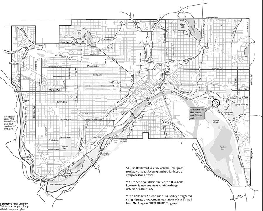St Paul Bike Map
