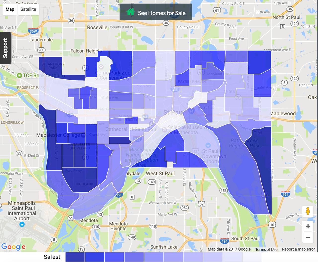St Paul Crime Map
