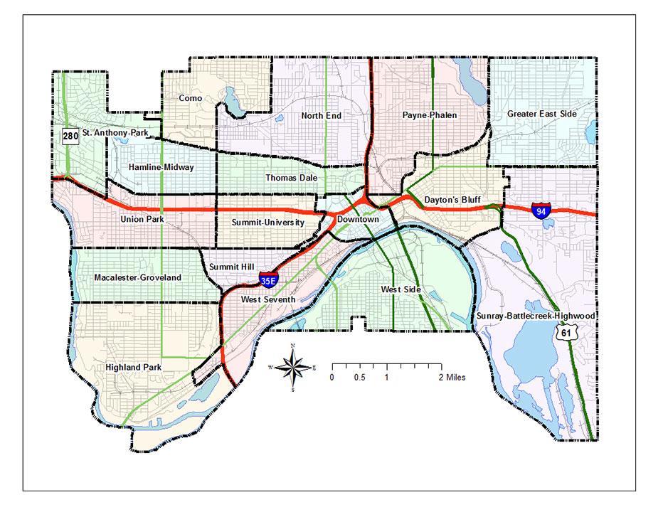 St Paul Neighborhood Map