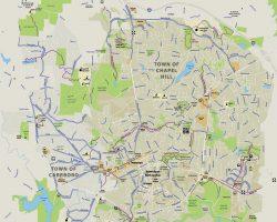 chapel hill nc bike map